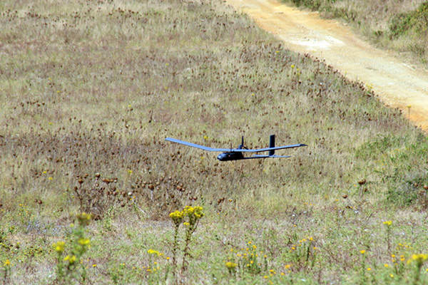 The AR4 Light Ray UAS has a cruising speed of 58km/h. Image courtesy of TEKEVER Autonomous Systems.