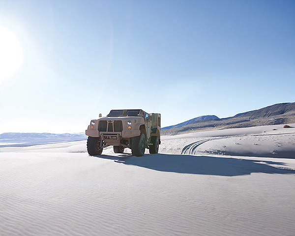 The Oshkosh L-ATV offers Mine Resistant Ambush Protected (MRAP) level protection.