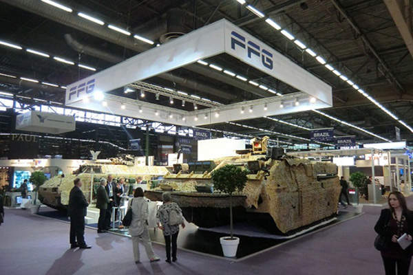 The PMMC G5 APC was unveiled at the Eurosatory 2012 international defence and security exhibition. Image courtesy of Flensburger Fahrzeugbau Gesellschaft MBH.