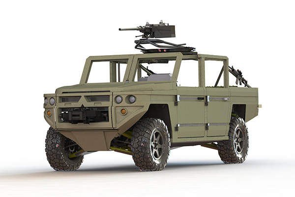 The ATTV can accommodate up to four personnel and a gunner. Image courtesy of GDELS.