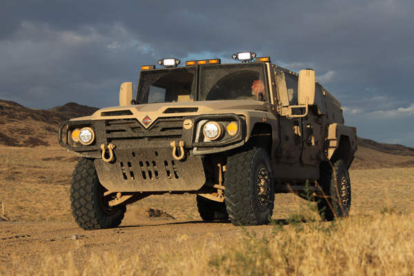 Navistar's International Saratoga for the US Army's Joint Light Tactical Vehicle (JLTV) programme.