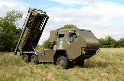 LIMAWS(R) consists of a six-wheeled four-wheel-drive Supacat vehicle and a Lockheed Martin self-loading launcher.