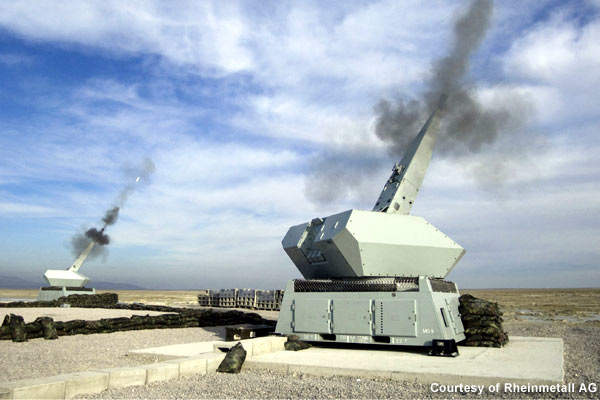 The AHEAD technology enables the air defence gun's capability to track and destroy the aerial targets.