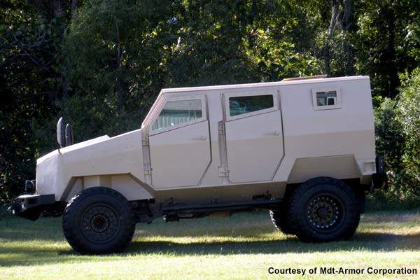 The MDT Tiger LPV was launched by Arotech on 5 October 2009 at the annual meeting of the Association of the US Army (AUSA).