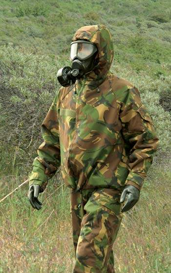 Soldier using SEYNTEX NBC Protection Products