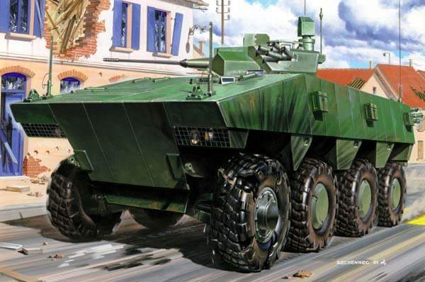 The VBCI from Nexter has been selected for the French Army and is planned to enter service in 2008. The vehicle took part in the FRES utility vehicle Trials of Truth in the summer of 2007.