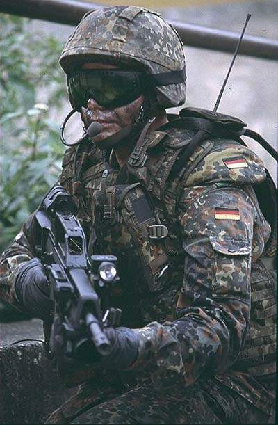 Close up of a solider using IdZ systems