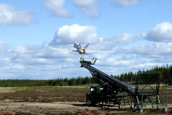 The Sperwer B launch test in Kemijarvi, Finland in June 2006.