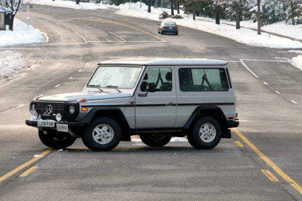 The G-Wagen has become a popular commercial SUV.