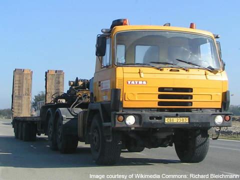 The Tatra T815 variant.
