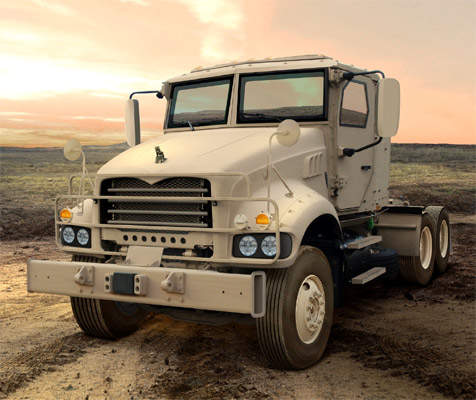 Mack M915 Truck in desert setting
