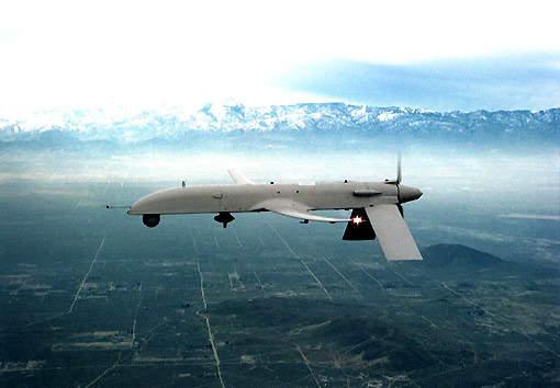 IGNAT-ER UAV flying infront of mountain range