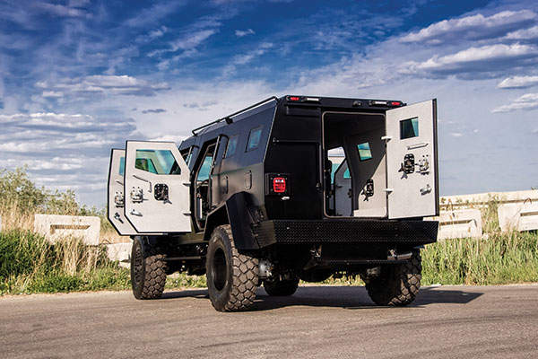 The vehicle can be deployed by SWAT, military and law enforcement agencies. Image: courtesy of INKAS Armoured Vehicle Manufacturing.