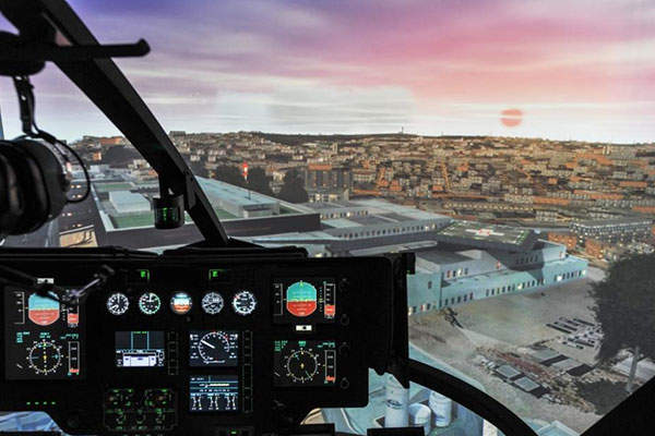 The EC135 T2+ training helicopter will be equipped with Thales' Reality H FFS mission-orientated training simulators. Image: courtesy of Thales Group.