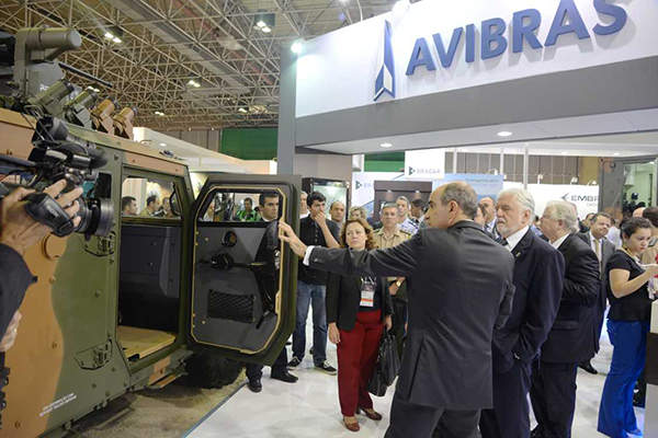 The TUPI armoured vehicle was on display at LAAD - International Defence and Security show held in April 2015. Image courtesy of Avibras.