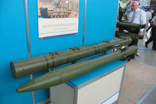 The 9M123 anti-tank missile can strike targets up to a range of 6km. Image courtesy of Mike1979 Russia.