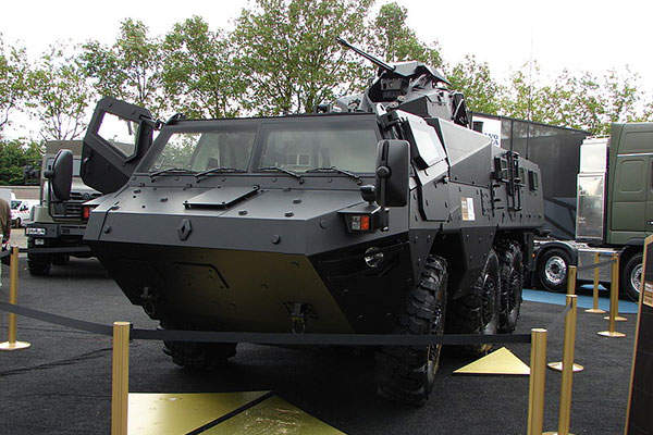The VAB Mk3 6x6 medium armoured vehicle was developed by Renault Trucks Defense. Image courtesy of Copyleft.