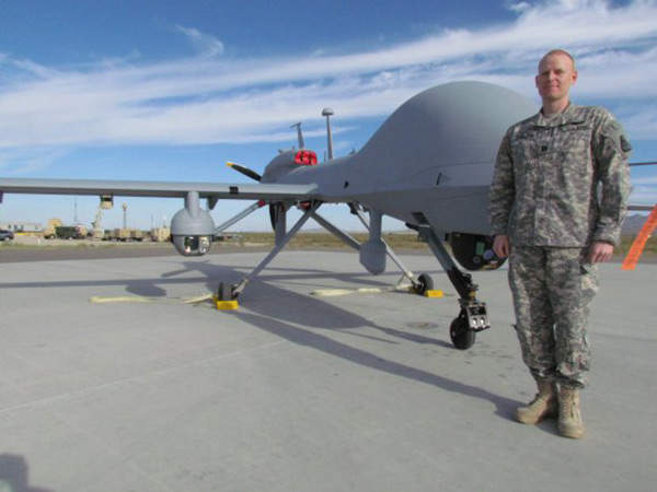 MQ-1C Gray Eagle UAS is a technologically advanced derivative of Predator unmanned aerial vehicle. Image courtesy of Ms Kari Hawkins (Redstone).