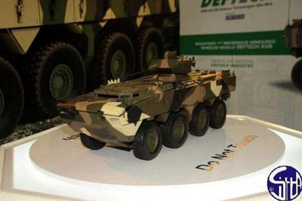 The first scale model was exhibited during 13th Defence Services Asia (DSA) international defence exhibition in April 2012. Image courtesy of Ministère de la Défense.