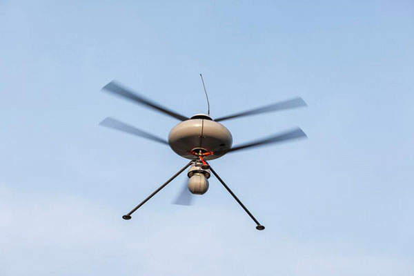 IT180-3EL-I UAV features three-blade contra-rotating rotors. Image: courtesy of ECA Group.