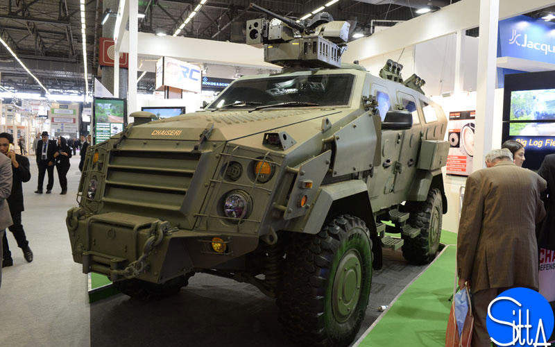 The First Win E reconnaissance or security variant took part in the EUROSATORY 2014 international defence and security exhibition. Image courtesy of Ministère de la Défense.