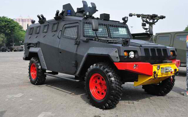 The Komodo vehicle features an armoured steel hull.  Image courtesy of Ominae via Wikipedia.