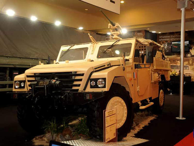 The Sherpa Light Special Forces vehicle seen during the DSA 2012 exhibition held in Malaysia. Image courtesy of Ministry of Defense.
