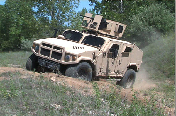 BRV-O (Blast-Resistant Vehicle - Off Road) can accommodate four troops.