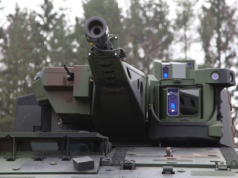 Lynx IFV is installed with Rheinmetall LANCE turret. Rheinmetall press picture.