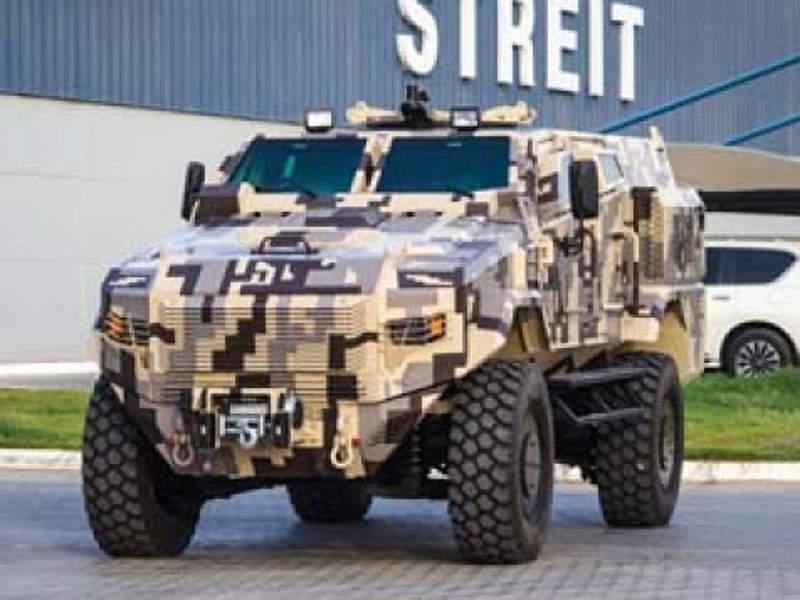 The Scorpion MRAP vehicle was on display at Eurosatory 2016. Image courtesy of STREIT Group.