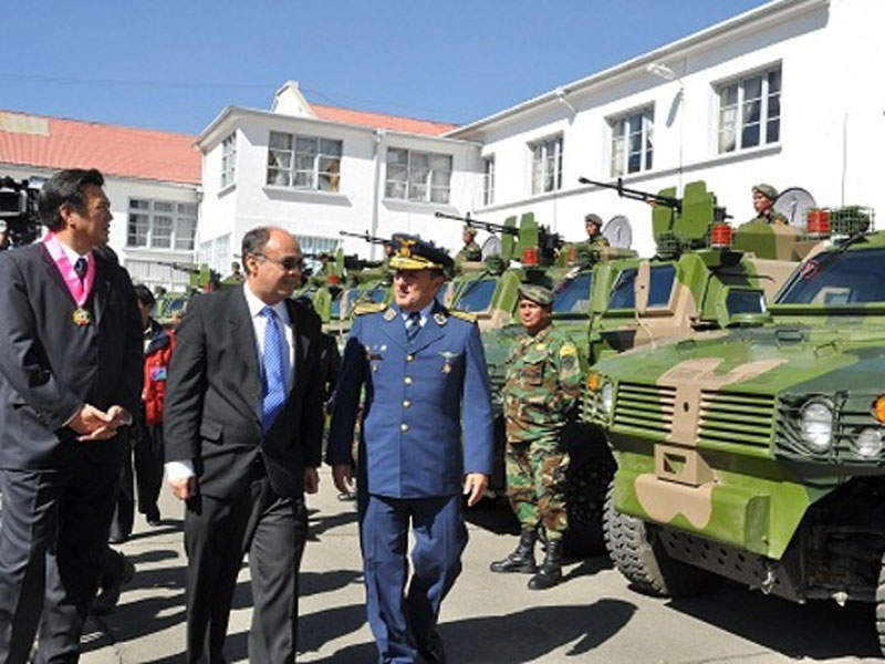 The Armed Forces of Bolivia received a set of Tiger 4x4 armoured vehicles in July 2016. Image courtesy of Ministry of Defence, Plurinational State of Bolivia.
