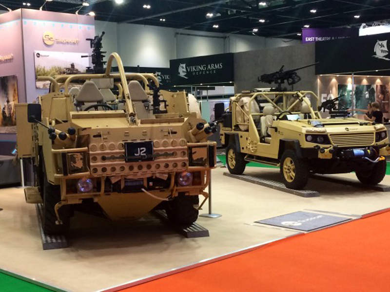 HMT Extenda was on display at the 2015 DSEi Exhibition. Image courtesy of Supacat.