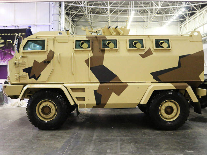 The KrAZ-Hulk MRAP vehicle is manufactured by Ukrainian company KrAZ. Image courtesy of PJSC