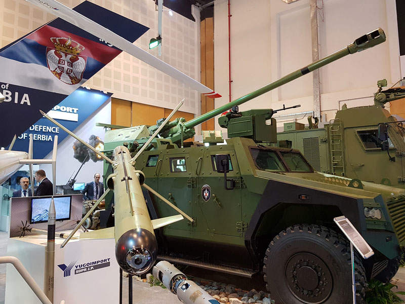 Milosh armoured vehicle seen during the IDEX 2017 exhibition. Image courtesy of Ministry of defence Republic of Serbia.
