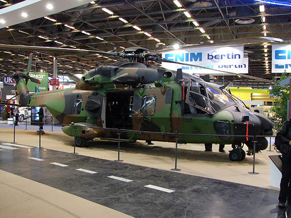 The NHIndustries NH90 Tactical Transport Helicopter (TTH) displayed at Eurosatory 2012. Image courtesy of Copyleft.