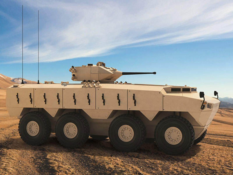 Side profile view of the PARS III 8x8 armoured combat vehicle. Image courtesy of FNSS Savunma Sistemleri A.Ş.