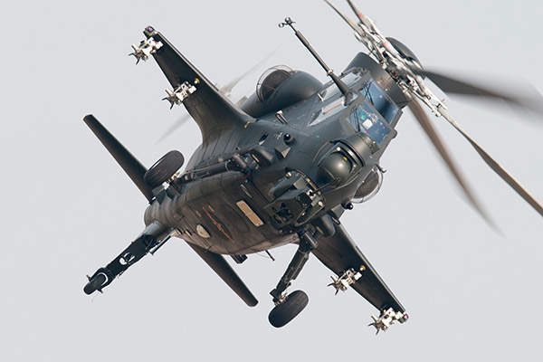 The Z-10 attack helicopter was unveiled at the China International Aviation & Aerospace Exhibition in November 2012. Image courtesy of Peng Chen.