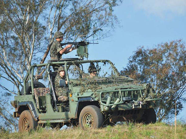 Marruá military utility vehicles can be armed with  machine guns, antitank missile launcher and recoilless cannon.