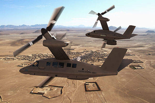 The V-280 Valor helicopter can be self-deployed to required location.