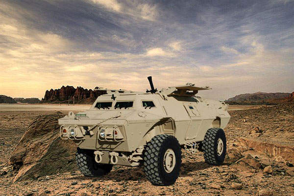 The COMMANDO Select Mortar Vehicle is capable of firing at azimuths up to 360 degrees. Image courtesy of Textron Systems.