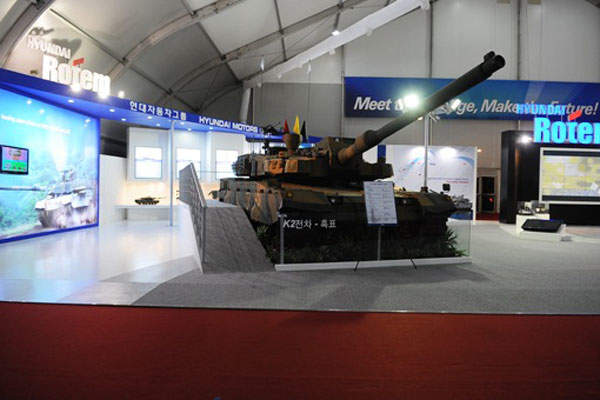 The K2 MBT was first revealed at the Seoul Aerospace and Defence Exhibition (ADEX) in 2009. Image courtesy of HYUNDAI ROTEM COMPANY.