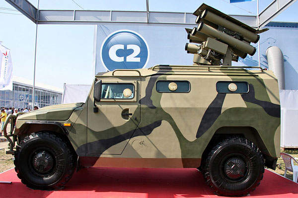 The Kornet-EM long-range missile system was unveiled at the Moscow Airshow (MAKS) in August 2011. Image courtesy of Vitaly V. Kuzmin.