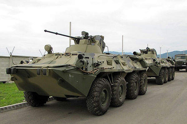 The BTR-82AM is provided with improved armour protection. Image courtesy of Ministry of Defence of the Russian Federation.