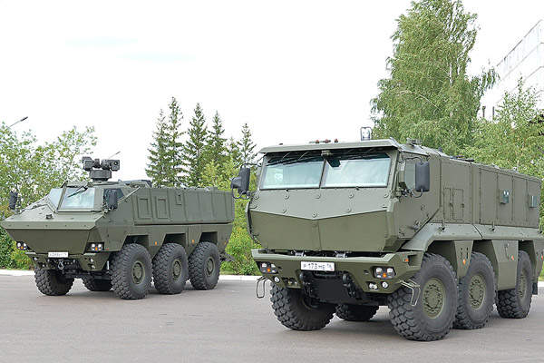 The Kamaz-63968 is a bigger variant in the Kamaz Typhoon family of 6x6 armoured vehicles. Image courtesy of OJSC KAMAZ.