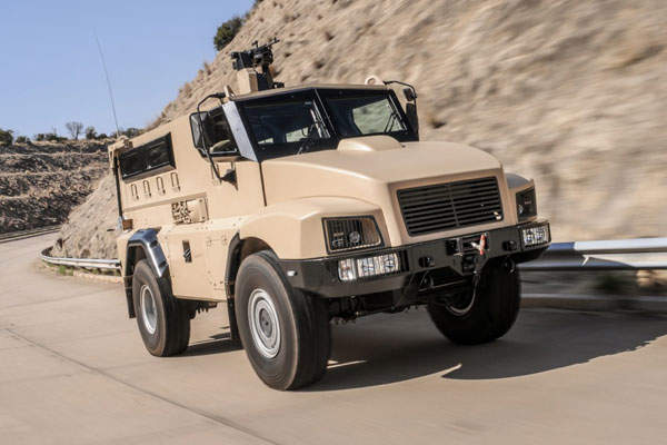The RG21 vehicle is armed with a 7.62mm machine gun. Image courtesy of BAE Systems.