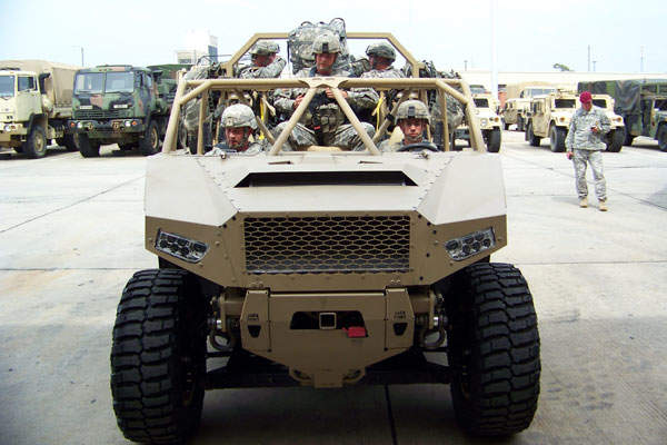 The DAGOR vehicle accommodates up to nine personnel. Image courtesy of Polaris Industries, Inc.