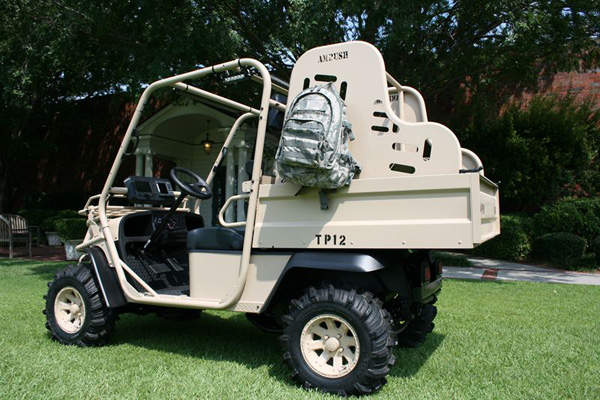 The Utility Baserunner vehicle was introduced during the IDEX 2013 exhibition. Image courtesy of Textron Systems.