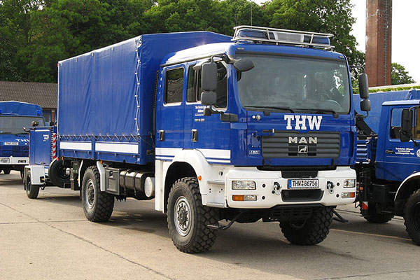 The vehicle is based on MAN TGM commercial truck chassis. Image courtesy of Thiemo Schuff.
