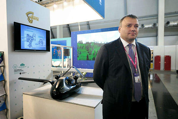 Chirok UAV was unveiled at the Innoprom Trade Fair in Yekaterinburg in July 2014. Image: courtesy of Rostec.