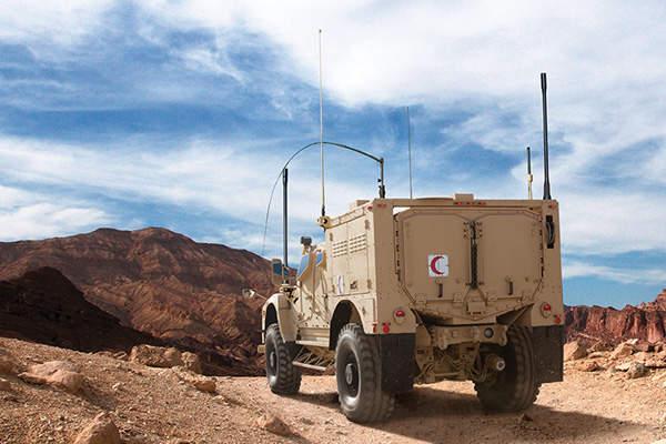 M-ATV EXM offers protection against improvised explosive devices (IEDs). Image: courtesy of Oshkosh Corporation.